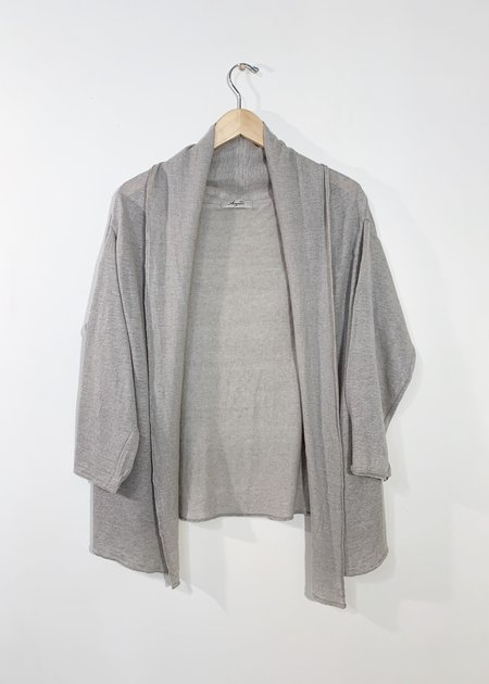 Ichi Antiquites Knit Linen Open Cardigan