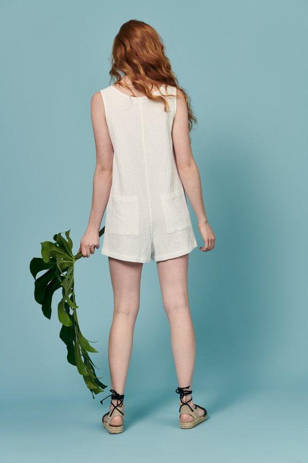 Whimsy + Row Alicia Romper - White
