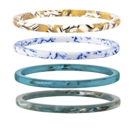 MACHETE Thin Bangle Set in 4