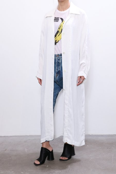 Raquel Allegra Relaxed Trench - Washed White
