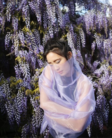 ASHLEY ROWE Turtleneck - Lilac Organza