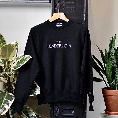 Tilted Brim The Tenderloiner Crewneck Sweatshirt - Black
