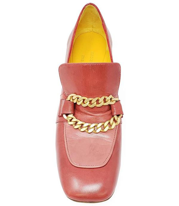 Madison Maison by MARA BINI HEEL LOAFER - RED/PINK