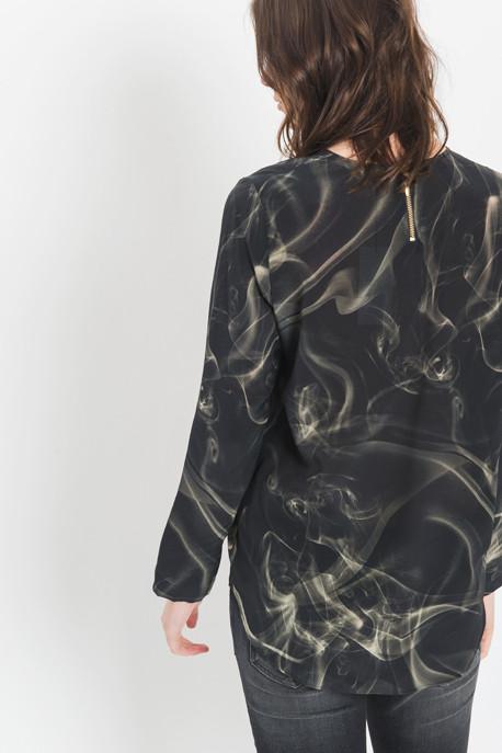 Roseanna - Silk Printed Dip Top