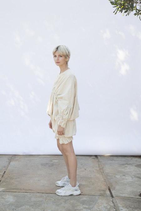 323 Vivian Natural Linen Top
