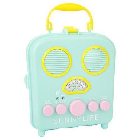 Sunnylife Beach Sounds Portable Speaker - green