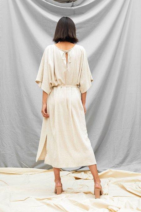 Devlyn Van Loon Tie Back Dress - Sand