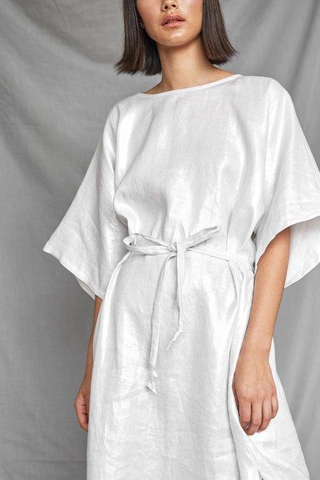Devlyn Van Loon Tie Back Dress - Silver