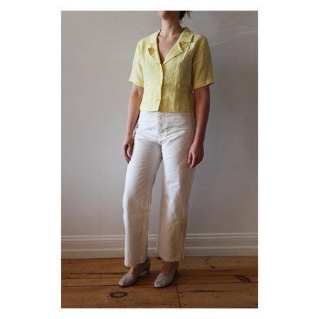 Ilana Kohn Mellow Linen Oliver Shirt - Lemon