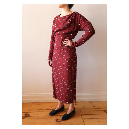 Rachel Comey New Haven Dress - Burgundy/Seafoam