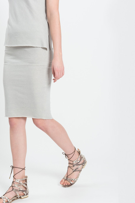 Harvey Faircloth - Sweatshirt Pencil Skirt in Antique