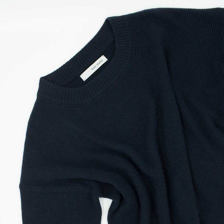 Ros Duke cashmere Ribbed Sweater - Navy