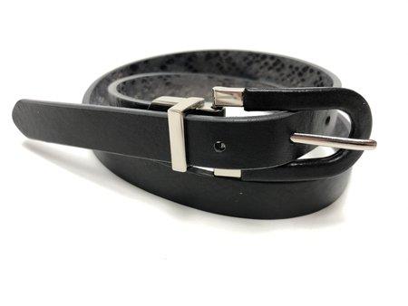 Brave Leather Ananda Reversible Belt - Gold snake / Black