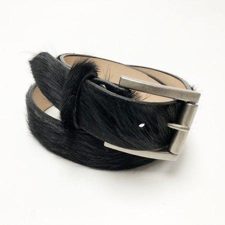 Brave Leather Leysa Pony Hair Belt - Black