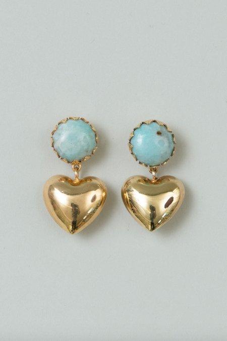 Rachel Comey Dear Earring - Gold/Turquoise