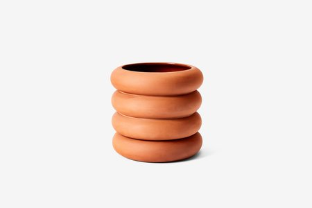 Areaware Stacking Tall Planter - TERRACOTTA