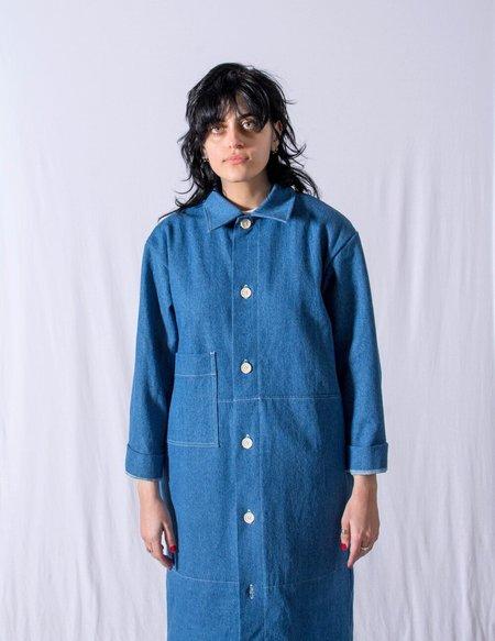 FAAN KINSMAN denim JACKET - mid blue