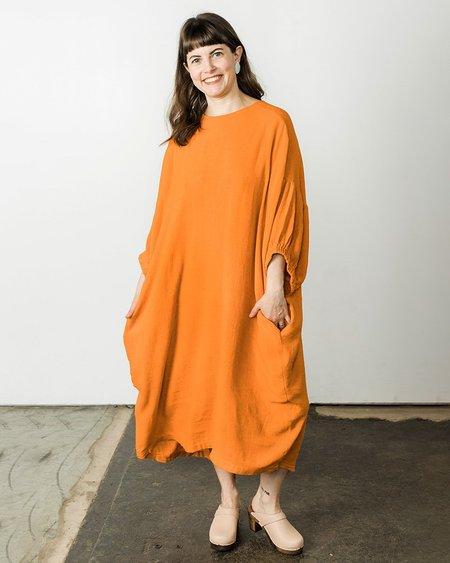 Black Crane Xiao Dress - Orange