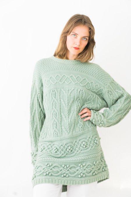 Backtalk PDX Vintage Sweater Dress - Mint