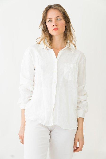 Backtalk PDX Vintage Linen Button-up - White
