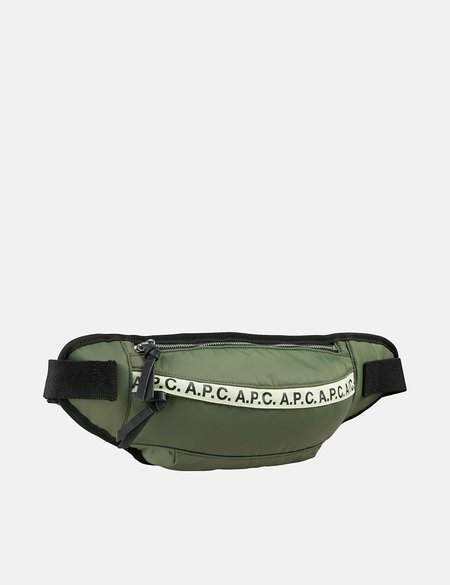 A.P.C. Repeat Hip Bag - Green