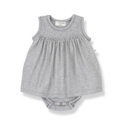 Kids 1+ in the Family Sybilla Body Dress - Grey Melange