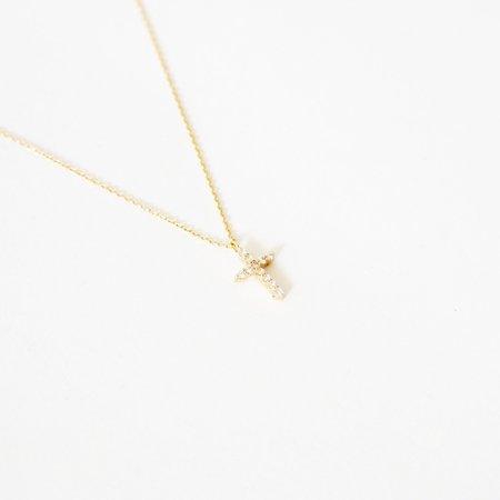 Vendome Aoyama Diamond Cross Necklace - 18K Gold