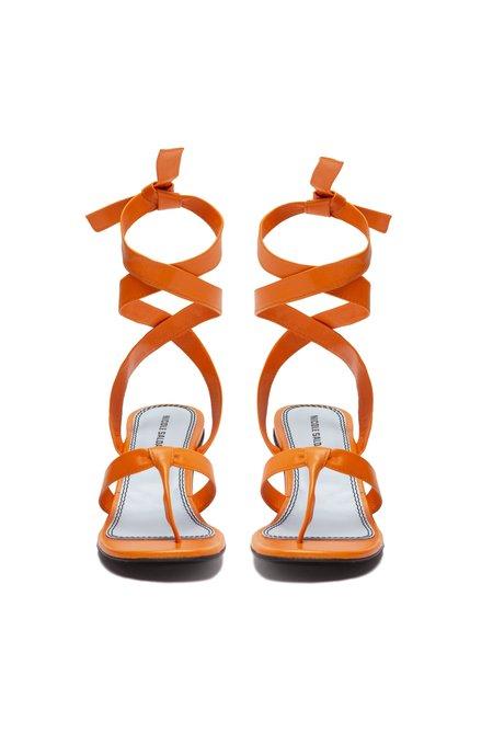 Nicole Saldana bobby thong sandal - clementine napa