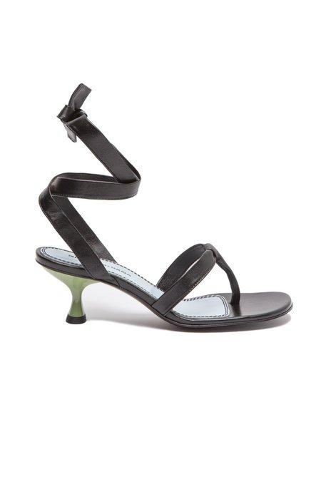 Nicole Saldana bobby thong sandal - black napa