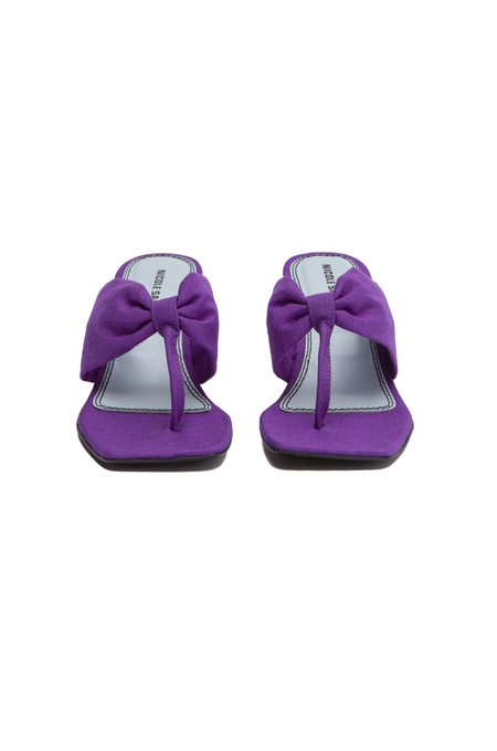 Nicole Saldana karina wedge - plum canvas