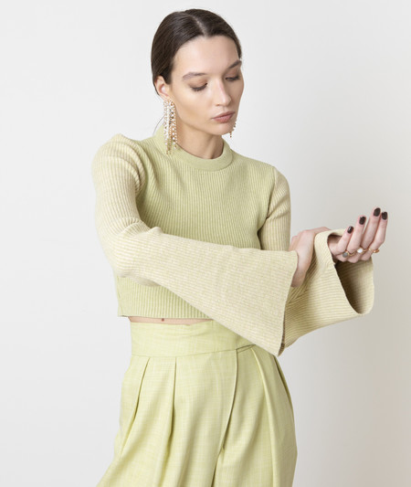Valentine Witmeur Lab Naturist Ter Sweater - Olive Green