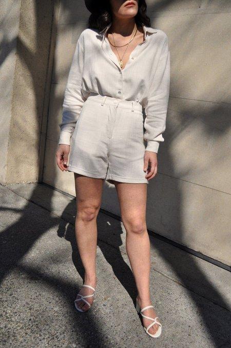 Sunad Flora Shorts - Blanco