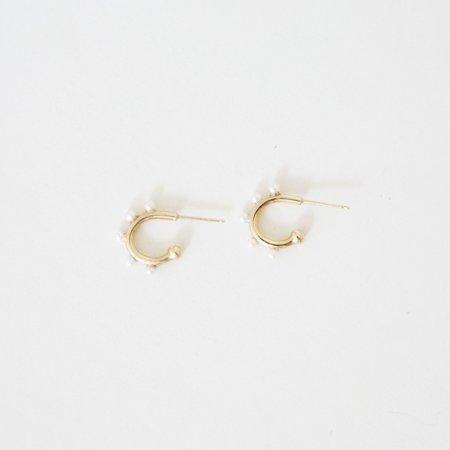 Looma Baby Blooms Singe Hoop - 14K Gold