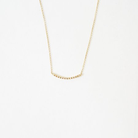 Vendome Aoyama Yamada Diamond Arc Necklace - 18K Gold