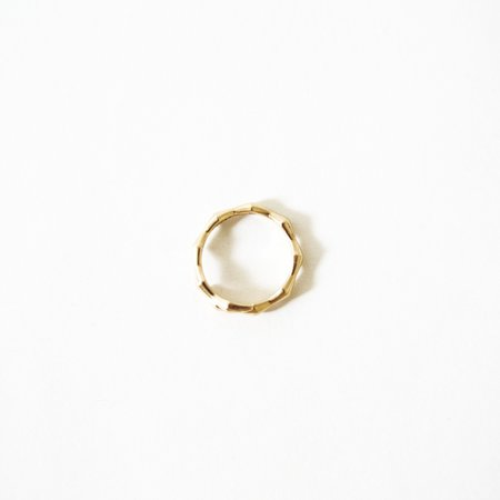 Mau Onda Band Ring - 14K Gold