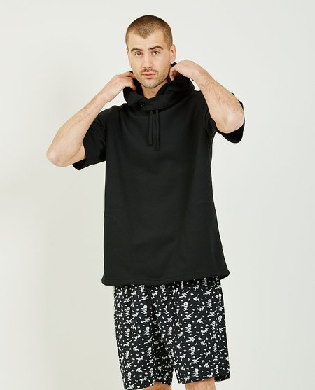 Engineered Garments Short Sleeve Hoodie - black