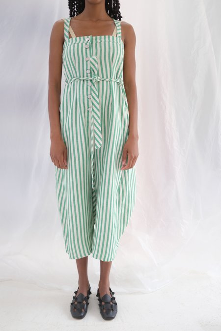 Anntian Overall - Striped Green