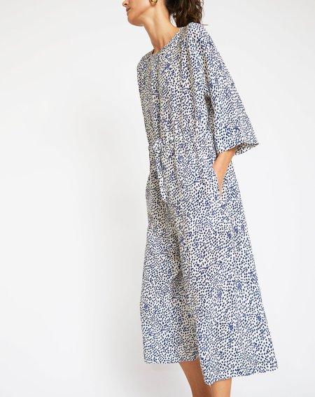 No.6 Ida Jumpsuit - White/Blue Dots