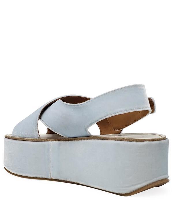 Madison Maison By Flamingos Open Toe Wedge Sandal - Blue