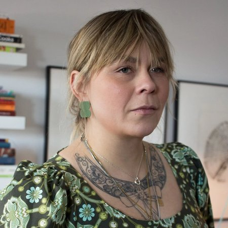 Anne-Sophie Vallee Medio Muscata Earrings - Olive