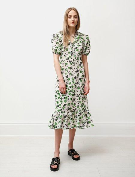 Shrimps Womens Oakley Hook and Eye Dress in Green/Cream
