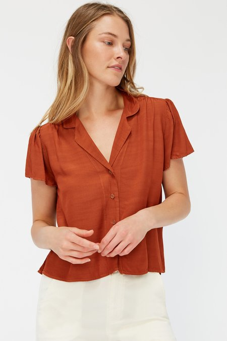 Lacausa Margot Blouse - Almond