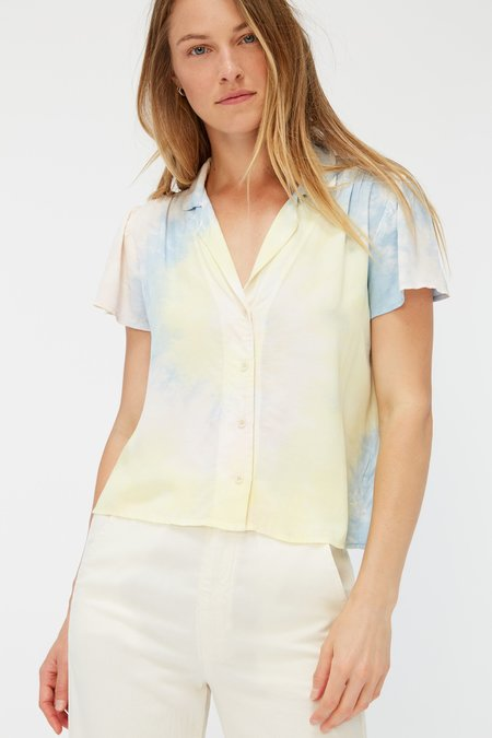 Lacausa Margot Blouse - Ziggy Tie Dye