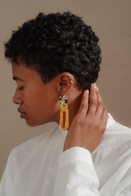 Rachel Comey MARBLE SOUR EARRINGS - ORANGE