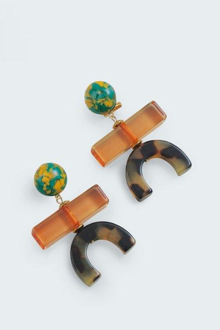 Rachel Comey STROLLER EARRINGS - ORANGE