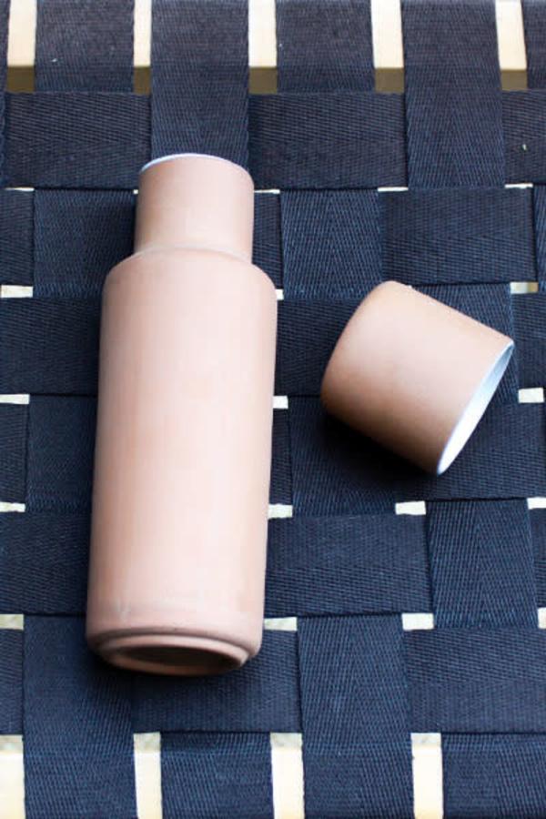 Lagos del Mundo Clay Carafe with Clay Cup