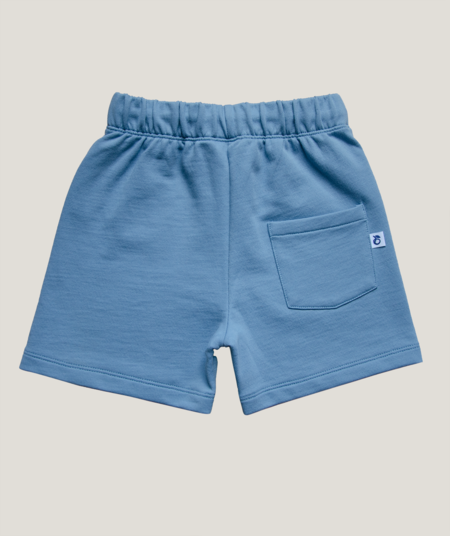 kids Granelito Organic Pima Cotton Bumblebee Shorts - Foggy Blue