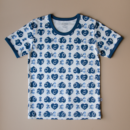 Granelito Ace Of Hearts Ringer Tee - Blue