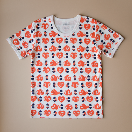 Granelito Ace Of Hearts Ringer Tee - Red