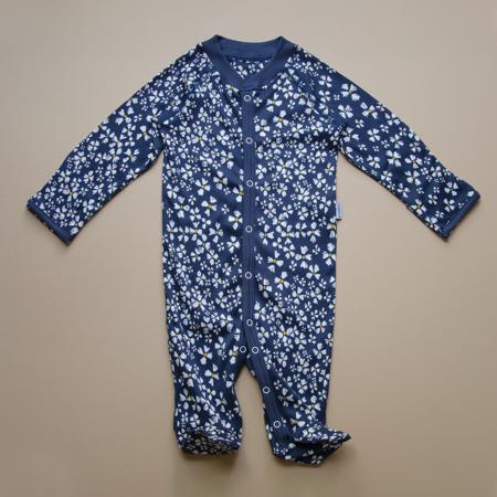 Kids Granelito Printed Organic Pima Cotton Jumpsuit - Navy